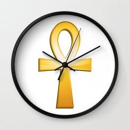 Ankh - egyptian symbol Wall Clock