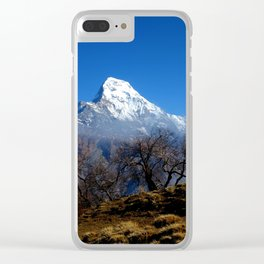 Panoramic View Of Annapurna Ghorepani Poon Hill Clear iPhone Case