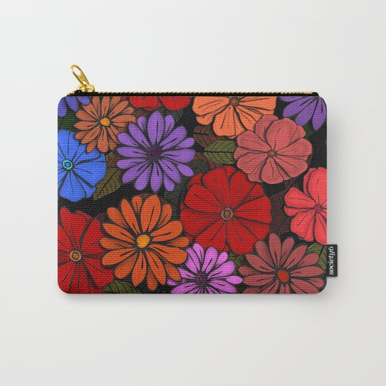 Abstract #393 Flower Power #4 Carry-All Pouch