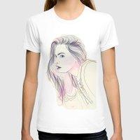 cara T-shirts featuring Cara by Guadalupe Jiménez