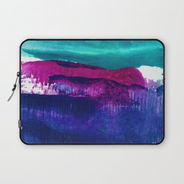 Encaustic Abstract No.27E by Kathy Morton Stanion Laptop Sleeve