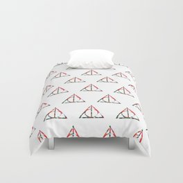 The Deathly Floral Hallows Duvet Cover