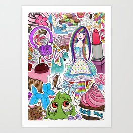 Candy Pop World Art Print