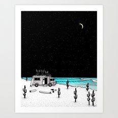 Moose Night Out Art Print