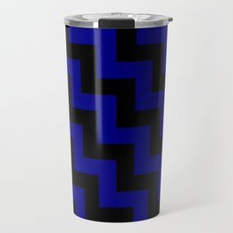 Black and Navy Blue Steps LTR Travel Mug