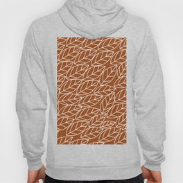 Doodle Leaves Rust and Light Grey (almost white) Hoody