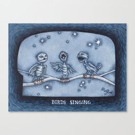 Birds Singing Canvas Print