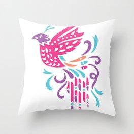 Boho Bird Throw Pillow