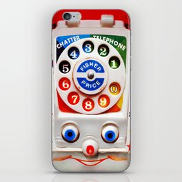 Classic Retro vintage Smiley Toys Dial Phone iPhone Skin