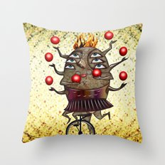 Equilibrist Throw Pillow