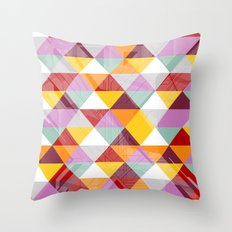 Triagles warm Throw Pillow