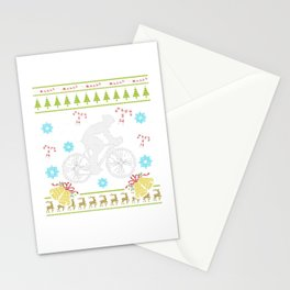 Cyclocross Cyclist Biker Christmas Ugly Shirt Sweater Stationery Cards