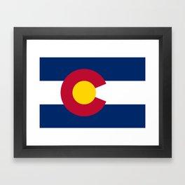 Colorado State Flag Framed Art Print