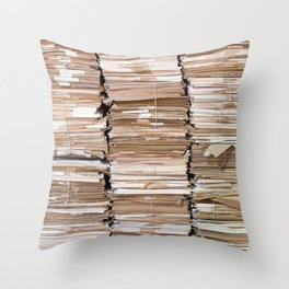 Pile of papers Throw Pillow