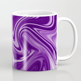 Trendy ultra violet liquid marble texture. Bright color of 2018 design. Coffee Mug