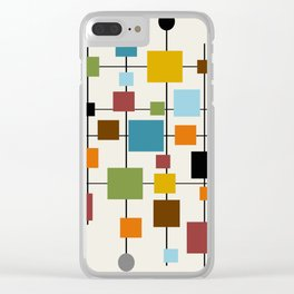 Mid-Century Modern Art 1.3 Clear iPhone Case
