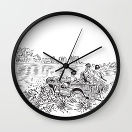 1944 Willys Jeep Wall Clock