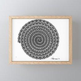 spiral 5 Framed Mini Art Print