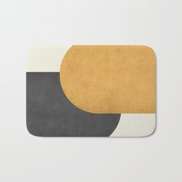 Halfmoon Colorblock - Gold Charcoal Bath Mat