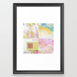 Choose HOPE collage Framed Art Print