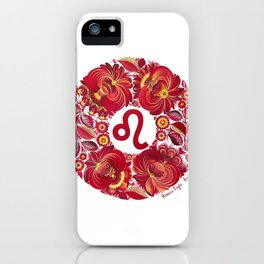 Leo in Petrykivka style (with signature) iPhone Case
