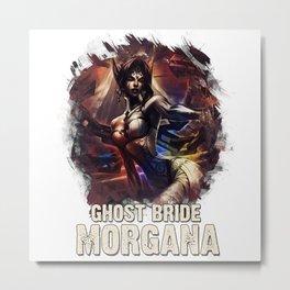 League of Legends GHOST BRIDE MORGANA Metal Print