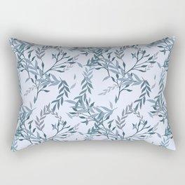 Seamless Hand Drawn Flowers Pattern Rectangular Pillow