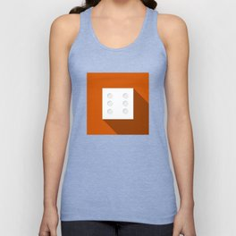 """Dice """"six"""" with long shadow in new modern flat design Unisex Tank Top"""