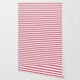 Large Nantucket Red Horizontal Sailor StripesLarge Nantucket Red Horizontal Sailor Stripes Wallpaper