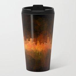 Houston City Skyline Hq v4 DARK Travel Mug
