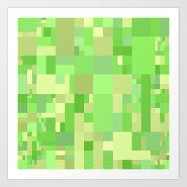 light green mosaic art Art Print