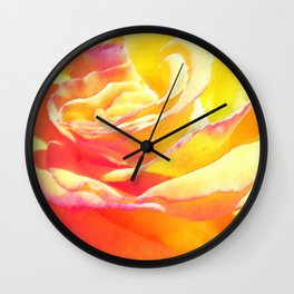 Love and Peace Pastel Rose Wall Clock