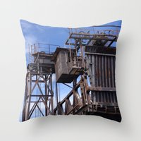 industrial Throw Pillows featuring Industrial by sharon clues