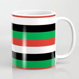 libya Sudan Syria United Arab Emirates Western Sahara flag stripes Coffee Mug