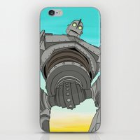 iron giant iPhone & iPod Skins featuring Iron Giant by 117 Art
