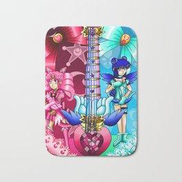 Sailor Mew Guitar #9 - Sailor Chibi Moon & Mew Minto Bath Mat
