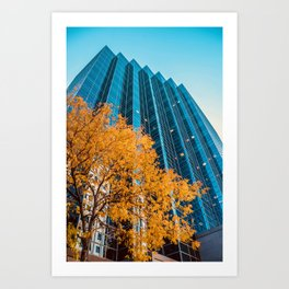 Fall In The City - Denver Art Print