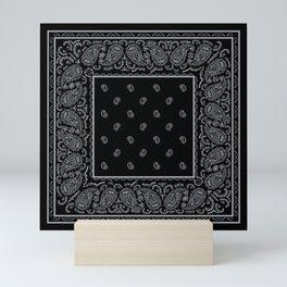 Black and Silver Bandana Mini Art Print