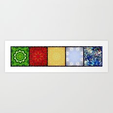 Five Elements Banner Art Print