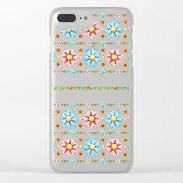 Millefiori Boho Chic Stripe Clear iPhone Case
