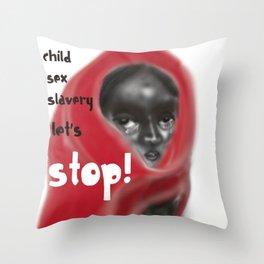 Let's Stop! Throw Pillow