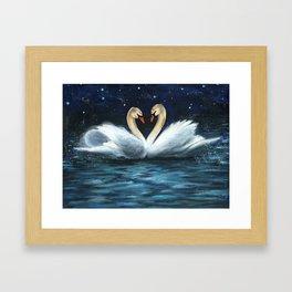 Swan Lake Framed Art Print