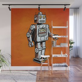 Retro Robot Toy Wall Mural
