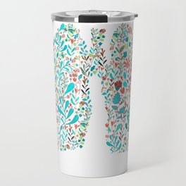 breathing in white Travel Mug