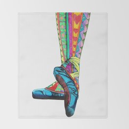 Happy Ballet II Throw Blanket