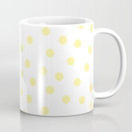 Simply Dots in Pastel Yellow Coffee Mug