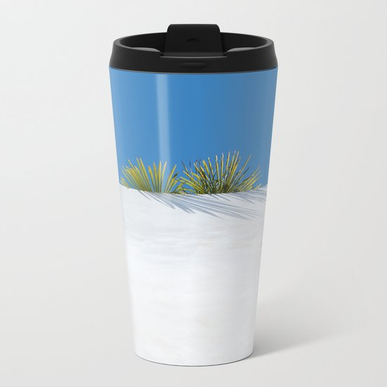Over the tropical garden wall Metal Travel Mug