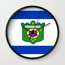 flag of tel aviv Wall Clock