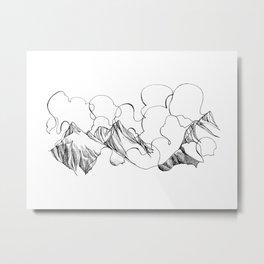 Peaks in the Clouds Metal Print