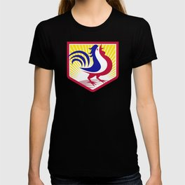 Rooster Cockerel Crowing Crest T-shirt